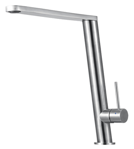 Round Modern Brushed Stainless Steel Kitchen Faucet