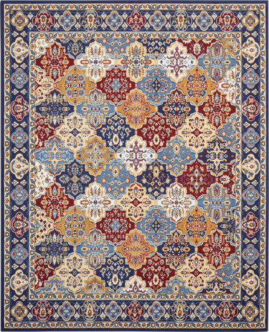 Grafix 8' x 10' Multicolor Persian Area Rug