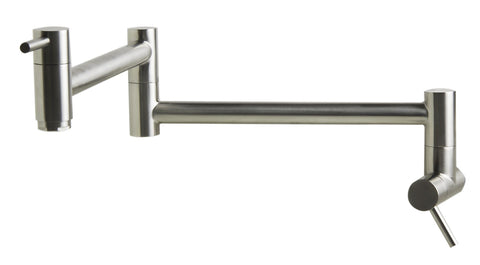 Brushed Stainless Steel Retractable Pot Filler Faucet Faucets Alfi