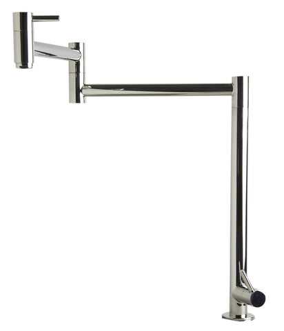 Polished Stainless Steel Retractable Pot Filler Faucet