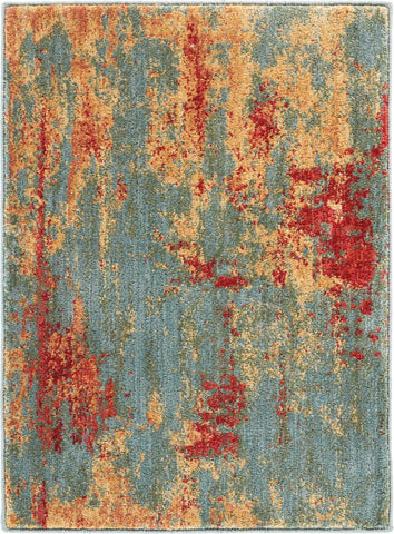 Nourison Somerset 2' X 3' Teal Multicolor Colorful Area Rug