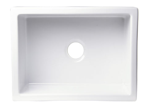 "24"" x 18"" Undermount Biscuit Fireclay Kitchen Sink Sink Alfi"