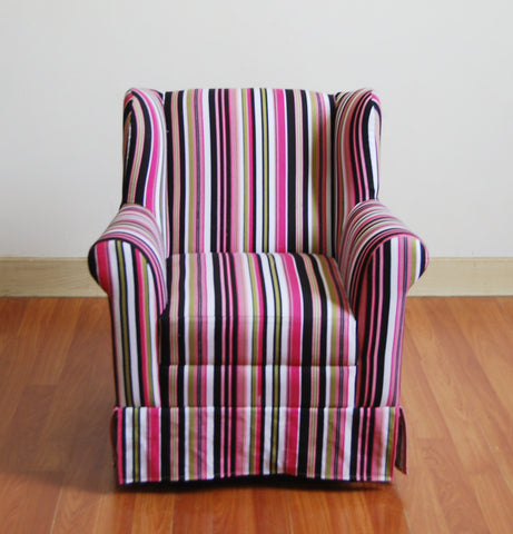 Girls Wingback Chair -Striped