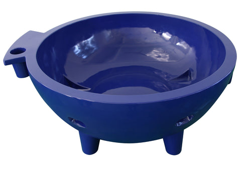 Dark Blue FireHotTub The Round Fire Burning Portable Outdoor Hot Bath Tub