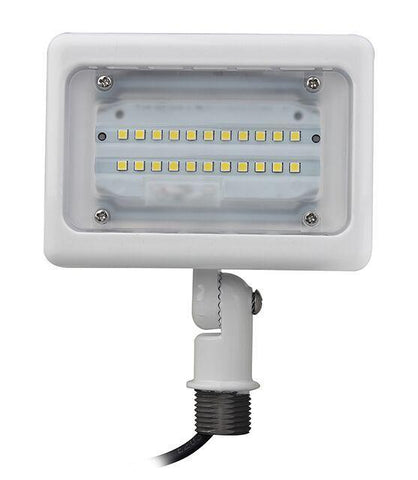 Small White LED Area Light (Flood Light) Threaded Mount Architectural Dazzling Spaces 15W 3000k Warm White