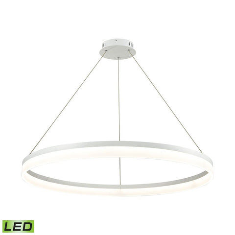 Elk Lighting Cycloid 1 Light LED Pendant In Matte White With Acrylic Diffuser - Large