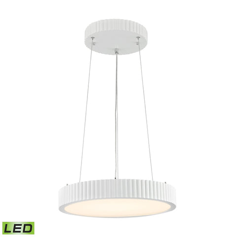 Digby 24 Watt LED Pendant In Matte White Ceiling Elk Lighting