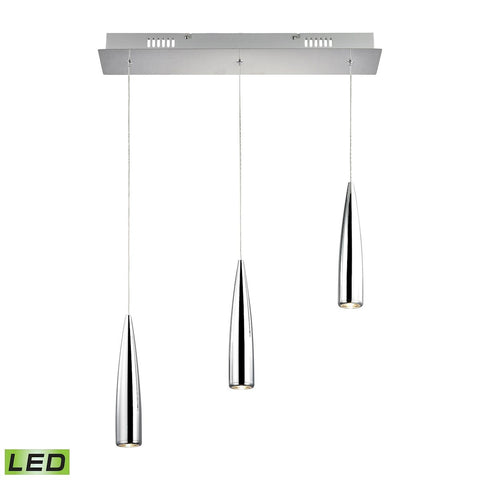 Elk Lighting Century 3 Light LED Pendant In Chrome