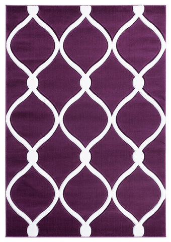 "Bristol Collection Rug - Plum (6 Sizes and Shapes) Rugs United Weavers Mat 1'10"" x 2'7"""