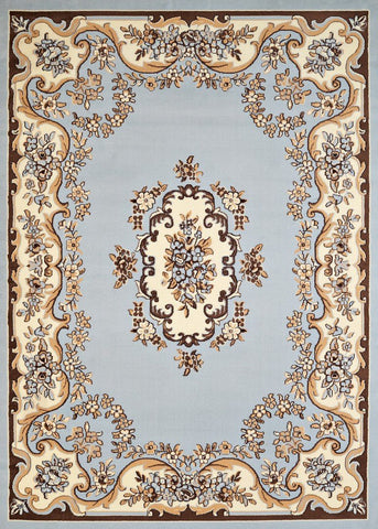 "Cafe Collection Collection Rug - Classic Aubuson Blue 1'10"" x 3'"