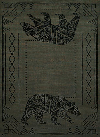 "Affinity Bear Cave Blue/Grey Rug - 4 Size Options Rugs United Weavers 1'10"" X 3' Accent"