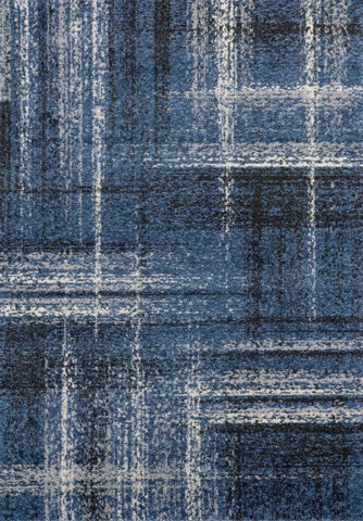 Serenity Collection Rug - Mid Blue (5 Sizes)