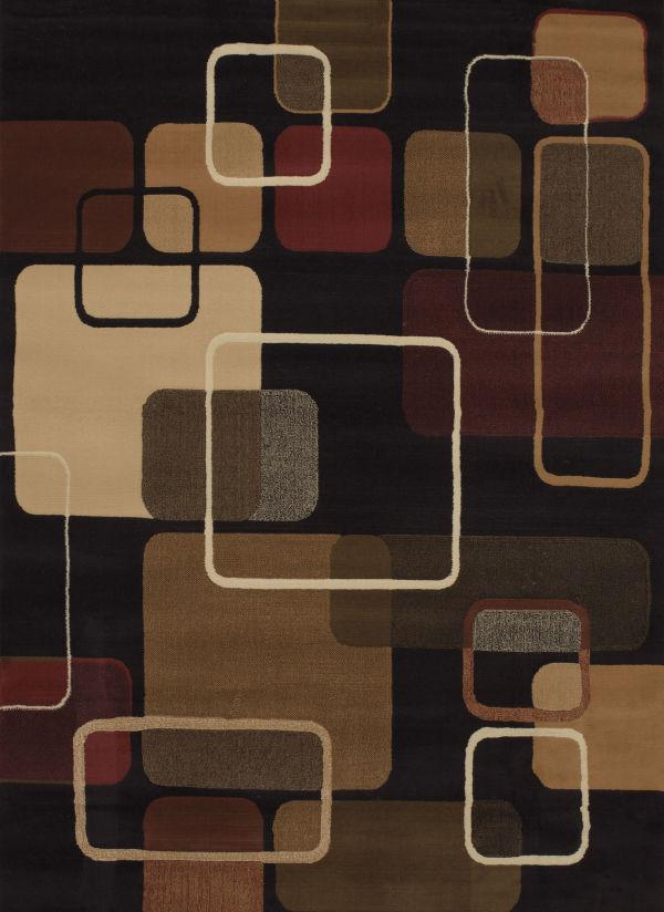 "Jazz Black Rug 5'3"" x 7'2"" Rugs United Weavers Black"
