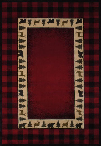 "Buffalo Red Rug (5 Sizes) Rugs United Weavers 1'10"" x 3' Mat"