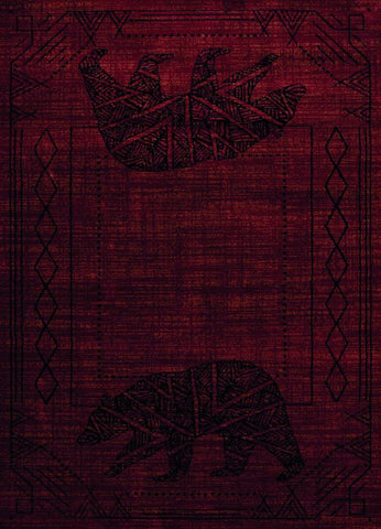 "Affinity Bear Cave Red Rug - 4 Sizes Available Rugs United Weavers 1'10"" X 3' Accent"
