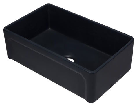 33 inch Black Reversible Single Fireclay Farmhouse Kitchen Sink
