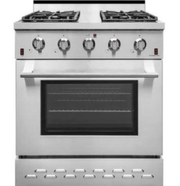 "NXR Professional Style Gas Range, 30"" SC3011 Appliances Dazzling Spaces"
