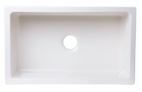 "30"" x 18"" Undermount Biscuit Fireclay Kitchen Sink"