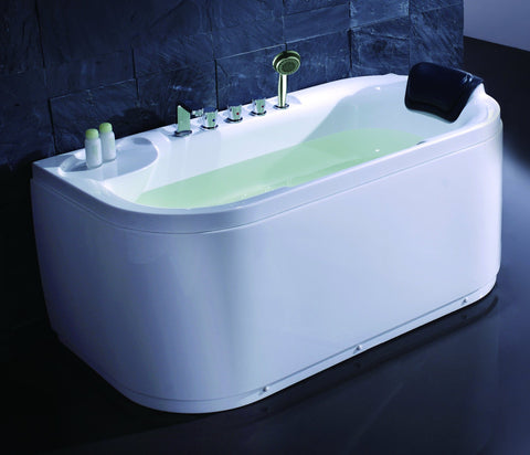 White Acrylic 5' Soaking Tub with Fixtures