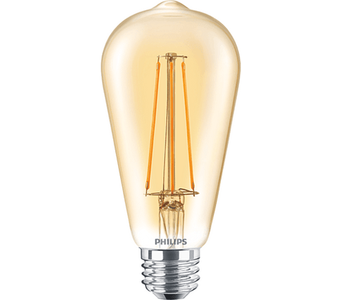 Philips 5.5W ST19 Filament Amber Dimmable (Set of 6) Bulbs Philips