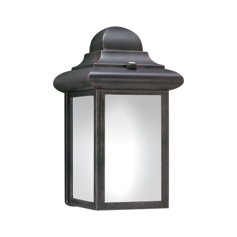 Windbrook 1-Light Outdoor Wall Lantern in Painted Bronze