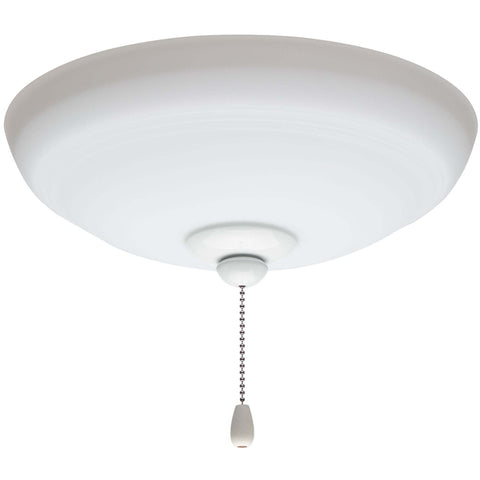kathy ireland HOME by Luminance Brands Ashland Opal Matte Ceiling Fan Light Kit | Glass Shade Attachment with Finial, Pull Chain, and 3 LED Bulbs, Appliance White