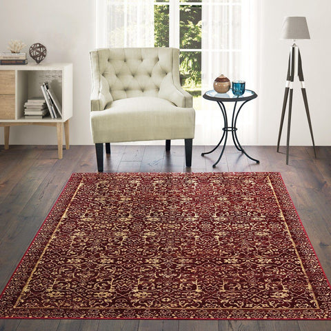 Royalton Collection Rug - Red (8 Sizes)