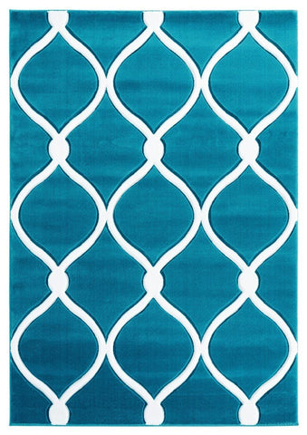 "Bristol Collection Rug - Turquoise (6 Sizes and Shapes) Rugs United Weavers Mat 1'10"" x 2'7"""