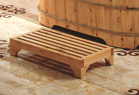 "4"" Modern Wooden Stepping Stool  Multi-Purpose Accessory"