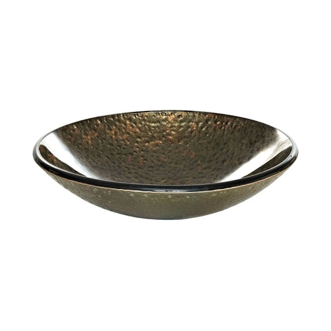 Reflex Vessel Sink - Green/Gold Storm 18.125-inch