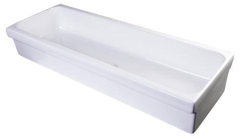 "48"" White Above Mount Fireclay Bath Trough Sink"