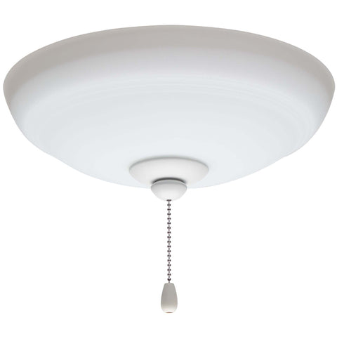 kathy ireland HOME by Luminance Brands Ashland Opal Matte Ceiling Fan Light Kit | Glass Shade Attachment with Finial, Pull Chain, and 3 LED Bulbs, Satin White