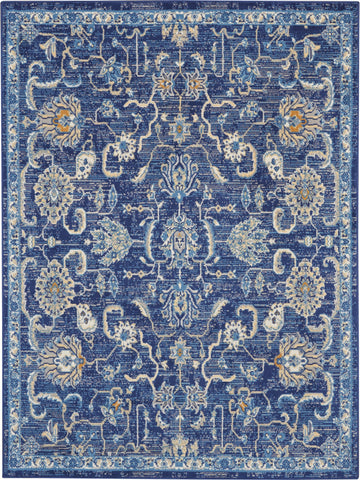 Grafix 5' x 7' Navy Blue Persian Area Rug