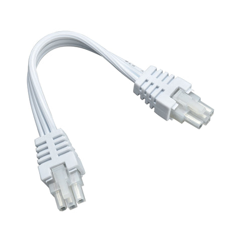 "Aurora 6"" Under Cabinet White Connector Cord"