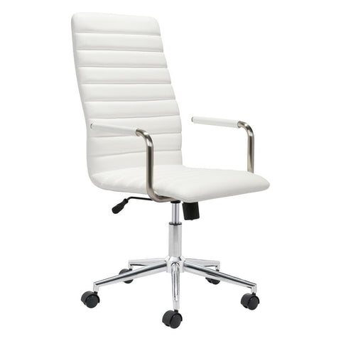 Pivot Office Chair White Furniture Zuo