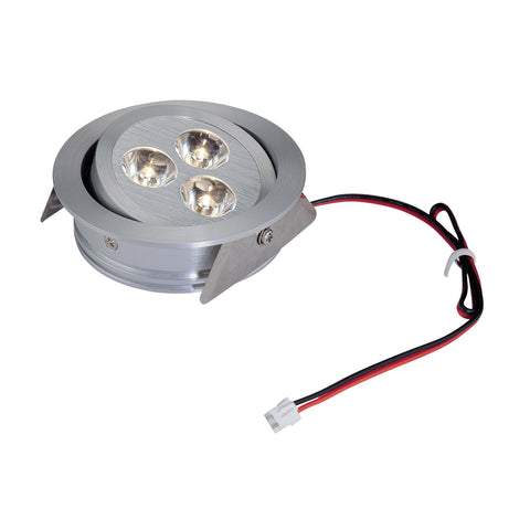 "Tiro3 3""w Directional LED Recessed Downlight - Brushed Aluminum"