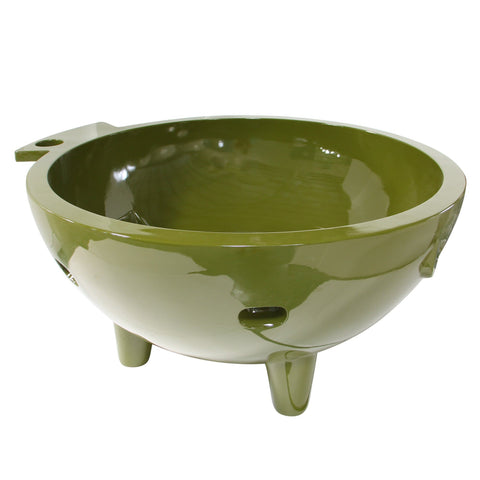 Green FireHotTub The Round Fire Burning Portable Outdoor Hot Bath Tub
