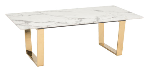Zuo Atlas Coffee Table Stone & Gold