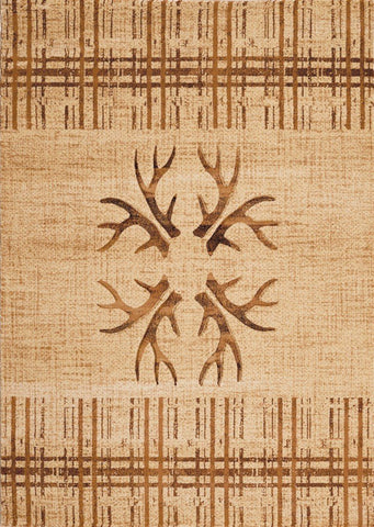 "Contours Collection Rug - Made True Antlers & Stripes (5 Sizes) Rugs United Weavers Mat 1'10"" x 2'8"""
