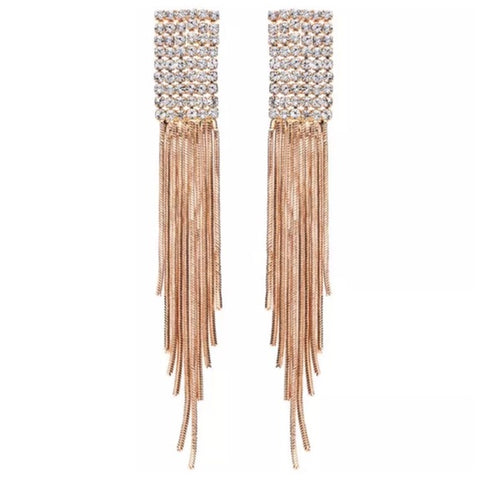 The Cami Waterfall Earrings With Swarovski Crystals S27