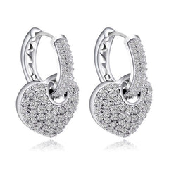 The Lia Pave Heart Earrings Made With Swarovski Crystals E3