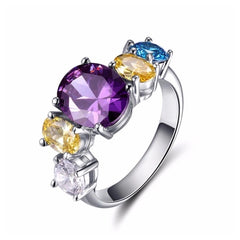 The Jamia Colorful Ring Made With Swarovski Crystals