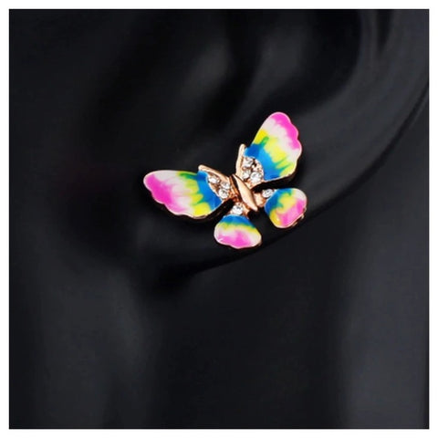 The Milia Butterfly Earrings With Swarovski Crystals S27