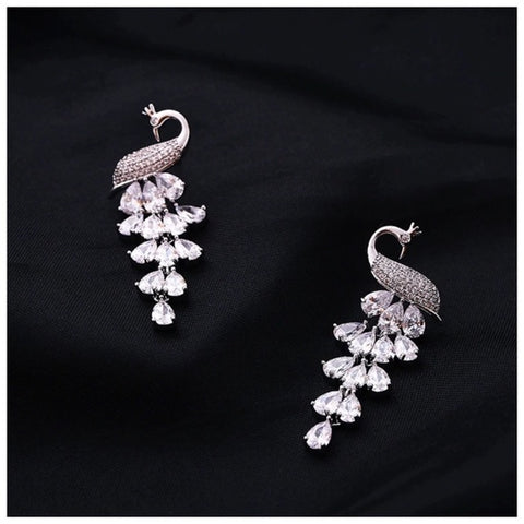 The Raene Peacock Earrings With Swarovski Crystals S26