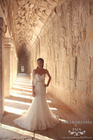 Custom Wedding Dress by Dream Dresses by PMN