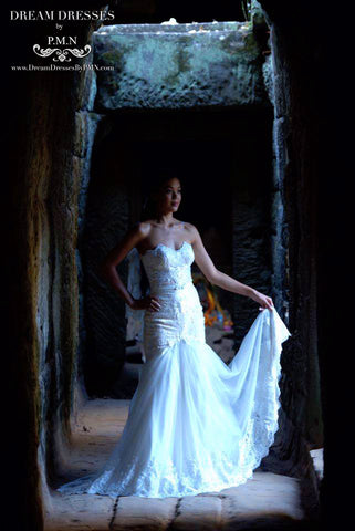 #Realbride. Custom Wedding Dress by Dream Dresses by PMN