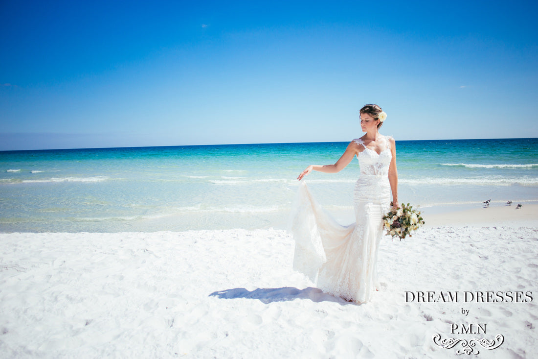 Nicole's custom couture wedding dress from Dream Dressesby PMN