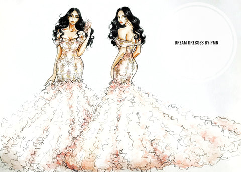 Custom designed Wedding gown by Dream Dresses by PMN