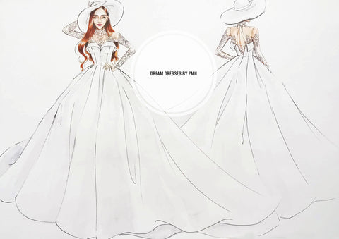 Custom designed wedding ball gown by Dream Dresses by PMN