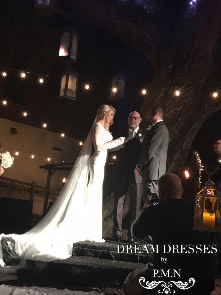 Couture custom wedding dress-Dream Dresses by PMN-Alison Myers's wedding